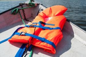 Redningsvest på båd